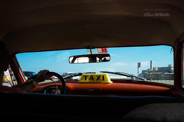 A vista de taxi