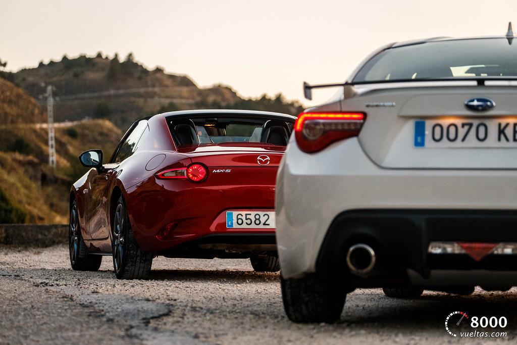 Mazda MX5 RF vs SUBARU BRZ - 8000vueltas-62