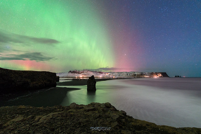 Reynisfjara aurora