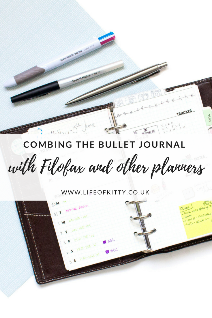 Combining the Bullet Journal Method with Filofax and other Planners // Life of Kitty