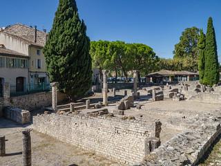 Antikes Viertel auf dem Puymin-Hügel in Vaison-la-Romaine