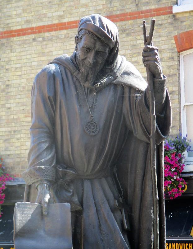 Geoffrey Chaucer Statue Closeup
