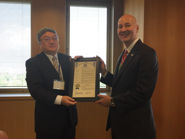 Gov. Ricketts Visits Shizuoka Prefecture and Tours Shizuki Electric Company on Fourth Day of Trade Mission