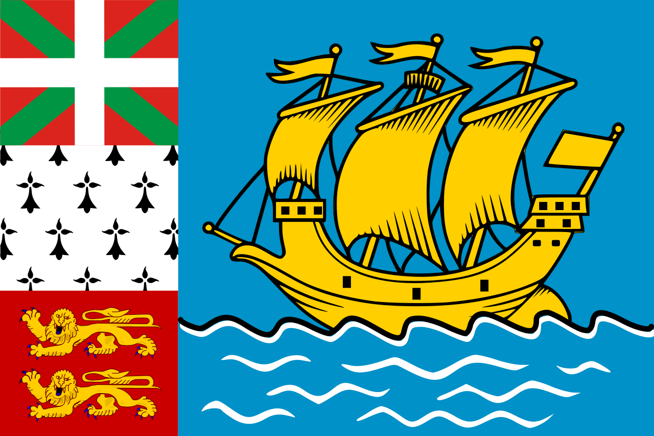 Unofficial flag of St. Pierre and Miquelon
