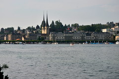 Hofkirche St. Leodegar and Lake Luzern