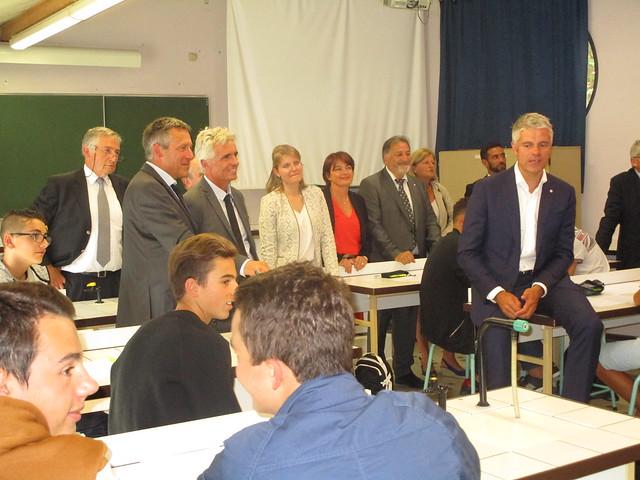 Déplacement avec Laurent Wauquiez, président du conseil régional Auvregne-Rhône-Alpes