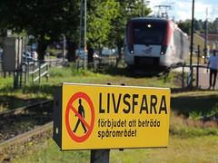 'Danger...don't do it! (Mora Strand, Sweden)