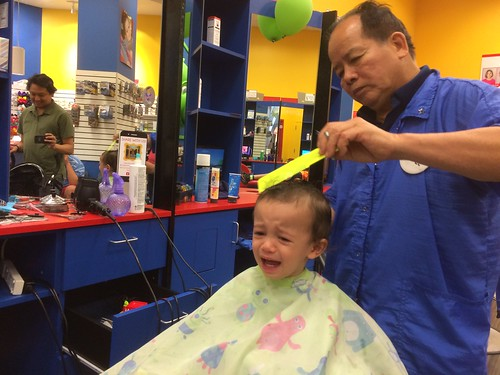 Ezra: during haircut