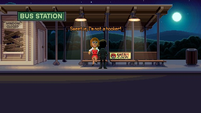 Thimbleweed Park - The Hooker