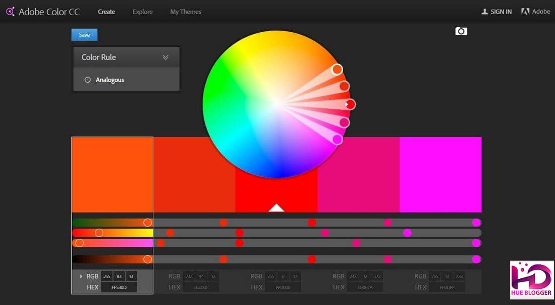 Tạo bảng màu phù hợp với các công cụ miễn phí