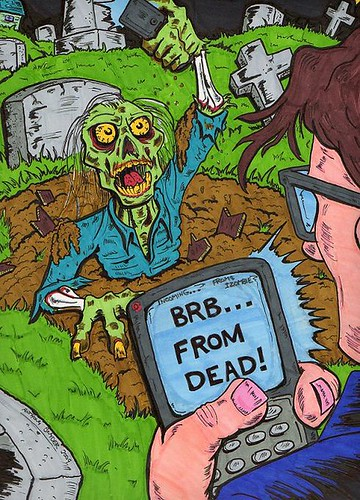 brb...from dead! Artist Anthony Snyder