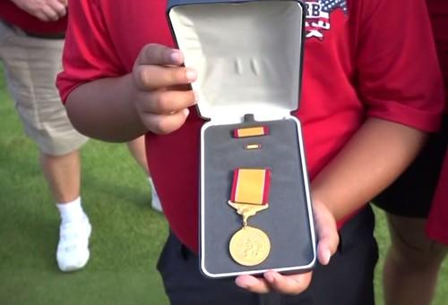 Coast Guard gold lifesaving medal