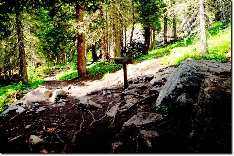 Crater Lakes & South Boulder Creek Trail fork