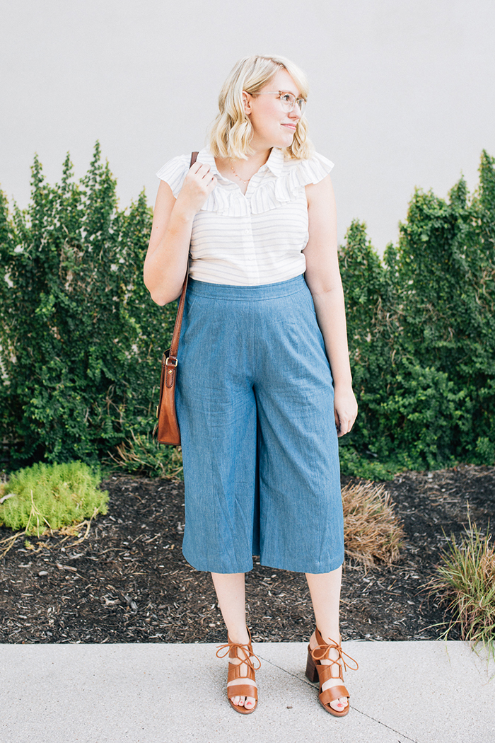 austin fashion blog writes like a girl modcloth chambray culottes3