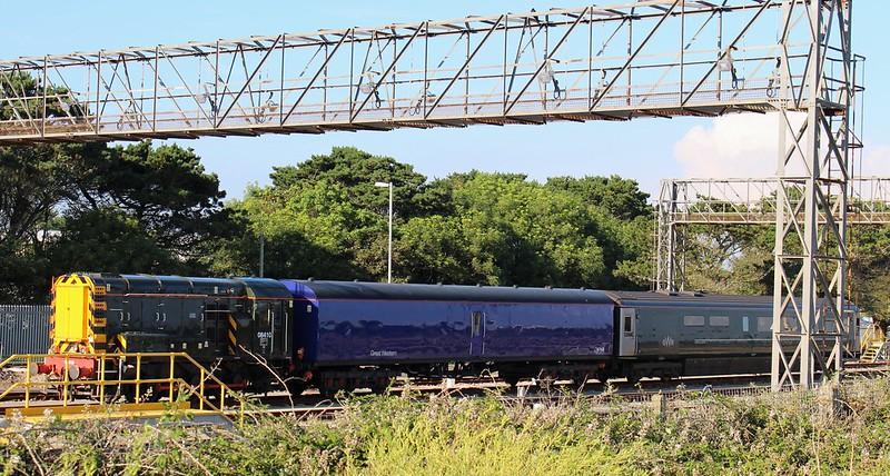 Shunting train near Penzance