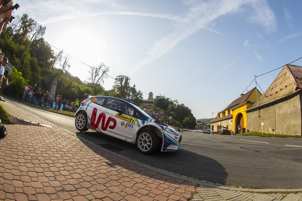21 HABAJ Lukasz (POL) DYMURSKI Daniel (POL) Ford Fiesta R5 action during the 2017 European Rally Championship ERC Barum rally,  from August 25 to 27, at Zlin, Czech Republic - Photo Gregory Lenormand / DPPI