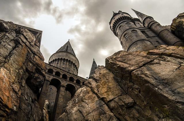 Hogwarts with bridge