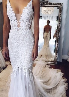 16fc3 Backless Fit N Flare Wedding Dress With V Neck Flickr