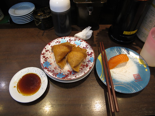tuesday, kaitensushi for lunch, tokyo, japan