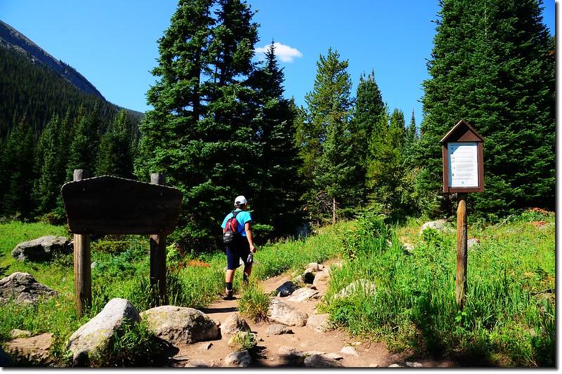 Entering James Peak Wilderness area