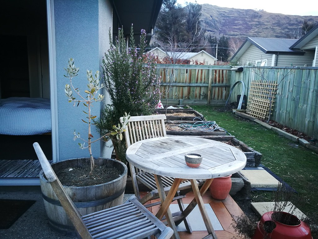 Outdoor terrace and garden