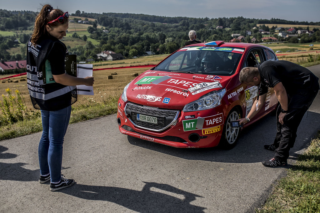 KUPEC Karel (CZE) KRAJCA Ondrej (CZE) Peugeot 208 R2 ambiance portrait during the 2017 European Rally Championship Rally Rzeszowski in Poland from August 4 to 6 - Photo Gregory Lenormand / DPPI