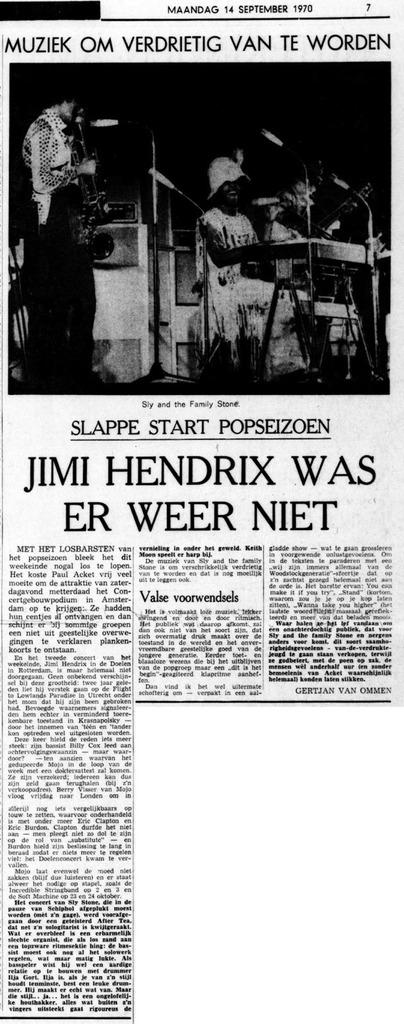 DE TIJD (NETHERLANDS) SEPTEMBER 14, 1970
