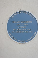 Photo of Lillah McCarthy blue plaque