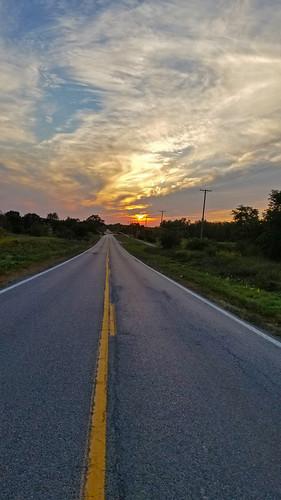 sunset road clouds altocumulous cirrius country rural summer september washingtontownship michigan