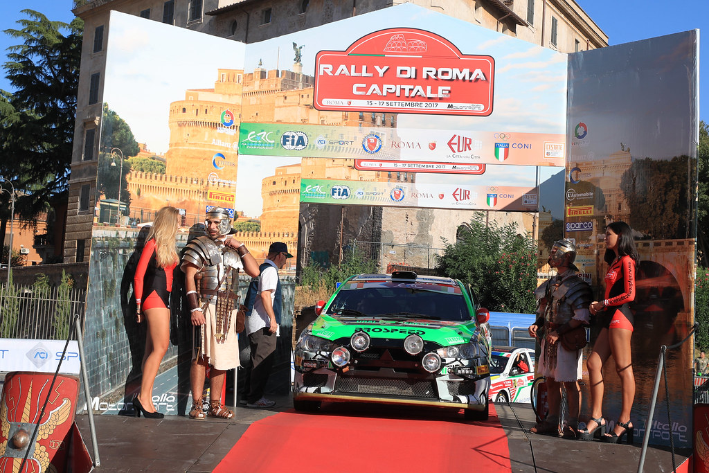 25  REMENNIK Sergei (RUS) ROZIN Mark (RUS) Mitsubishi Lancer Evo X start during the 2017 European Rally Championship ERC Rally di Roma Capitale,  from september 15 to 17 , at Fiuggi, Italia - Photo Jorge Cunha / DPPI