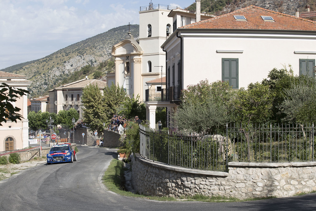 11 SUAREZ Jose Antonio (ESP) CARRERA ESTEVEZ Candido (ESP) Peugeot 208 T 16 actionduring the 2017 European Rally Championship ERC Rally di Roma Capitale,  from september 15 to 17 , at Fiuggi, Italia - Photo Gregory Lenormand / DPPI