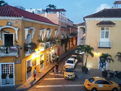 Anoitecer em Cartagena.