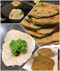 Pea-Stuffed Paratha from Chai, Chaat, & Chutney by @chetnamakan #raleighnc