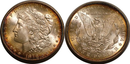 1879-O Morgan Toned