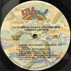 V.A.:LATIN DISCO - SALSA'S GREATEST HITS(LABEL SIDE-A)