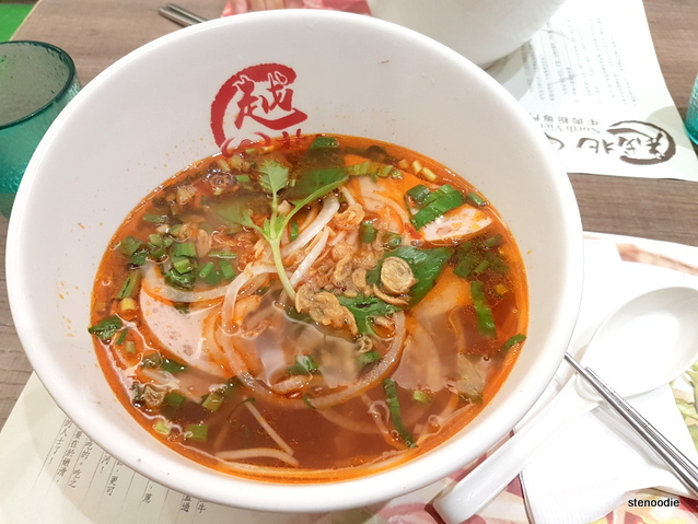 Vietnamese Sausage with Tomato Soup Pho