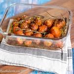 Geröstete Pariser Karotten mit Senf, Rosmarin und Honig