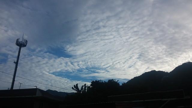 구름가득한 아침하늘 | 청화산