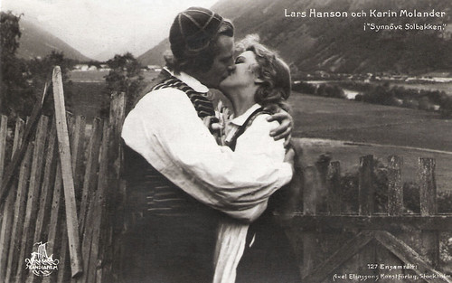 Karin Molander and Lars Hanson in Synnöve Solbakken (1919)