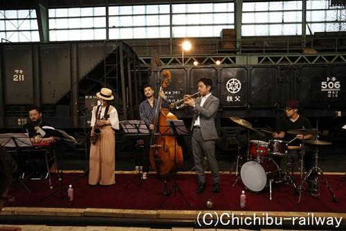 10/14(土)「広瀬川原車両基地ジャズコンサート」演奏イメージ