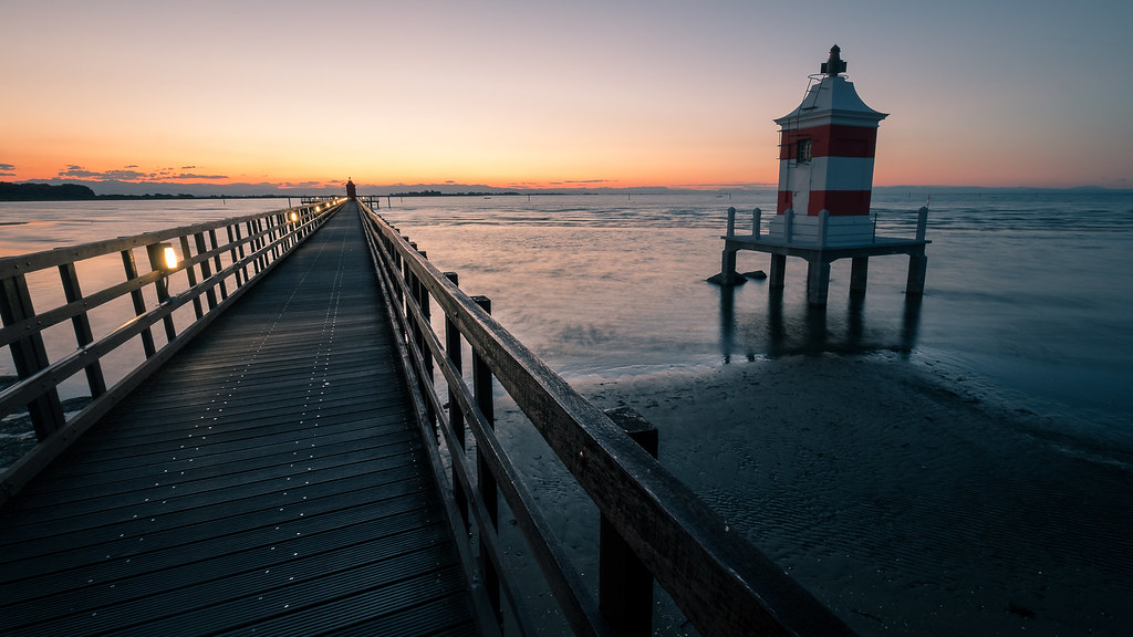 Two Lighthouses - Lignano sabbiadoro, Italy - Seascape photography