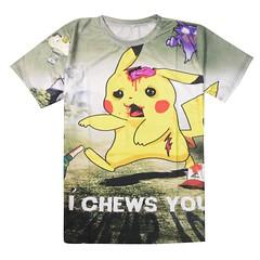 Pikachu Apocalypse I Chews You 3D T-shirt