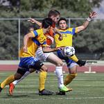 Ryan Glanville through two defenders (Sept 2,2017 Allen Douglas)