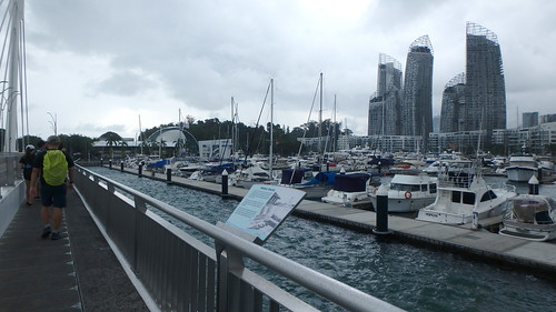 Boardwalk towards Marina at Keppel Bay