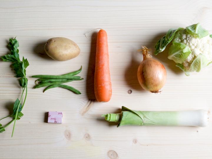 Ingrediënten van het verspakket