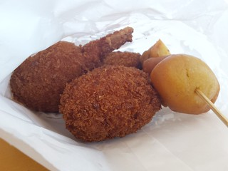 Chicken Drumsticks and other fried thing from September 18 at Brisbane Vegan Markets