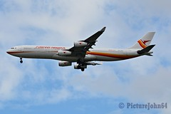 PY994 Surinam Airways Airbus 340 (PZ-TCR) arriving from Paramaribo Zandery at Schiphol Amsterdam