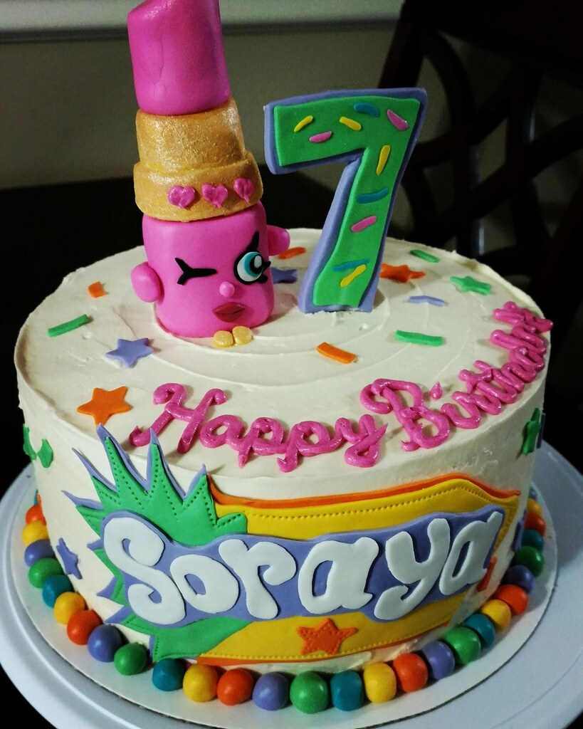 Lippy Lips Shopkins Birthday Cake A Photo On Flickriver