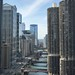 Looking west on the Chicago River by Mercer52