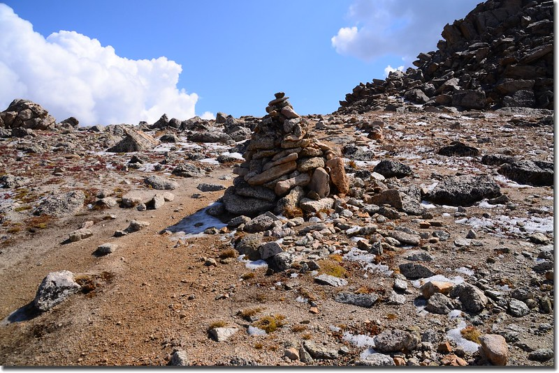 A large cairn on the shoulder 2